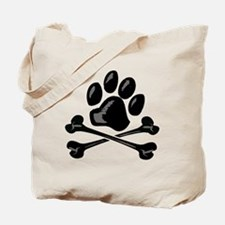 paw and crossbones Tote Bag