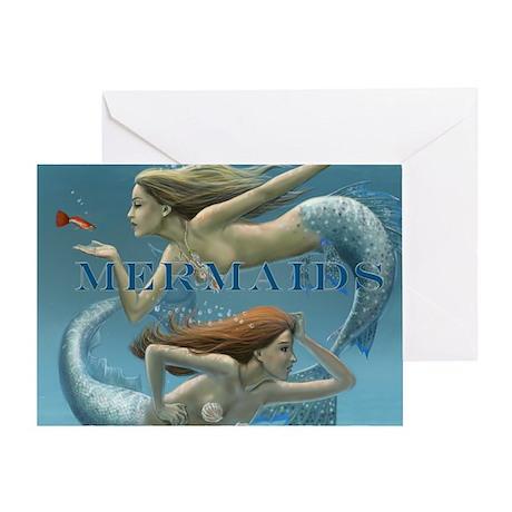 2013 mermaids calendar cover Greeting Card