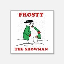 "Christmas Showman Square Sticker 3"" x 3"""
