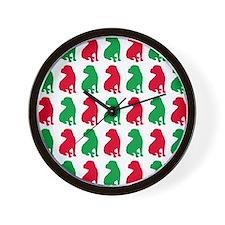 Shar Pei Christmas or Holiday Silhouett Wall Clock