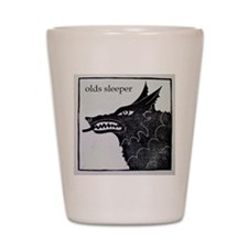 olds wolf Shot Glass