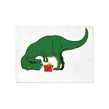 T-rex hates presents 5'x7'Area Rug