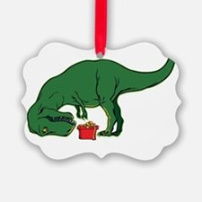 T-rex hates presents Ornament