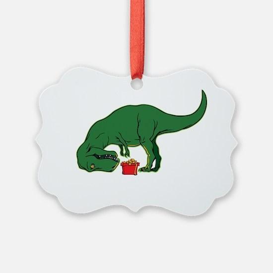 T-rex hates presents Ornament