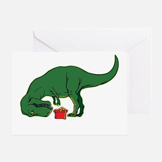 T-rex hates presents Greeting Card