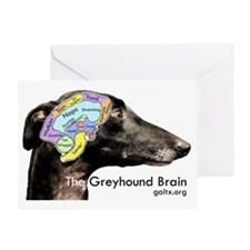 The Greyhound Brain Greeting Card