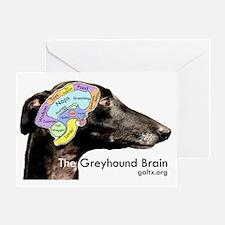 The Greyhound Brain Greeting Card