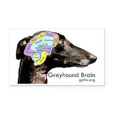 The Greyhound Brain Rectangle Car Magnet