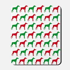 Doberman Christmas or Holiday Silhouette Mousepad