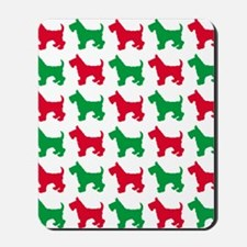 Scottish Terrier Christmas or Holiday Si Mousepad