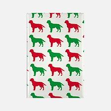 Labrador Retriever Christmas or H Rectangle Magnet