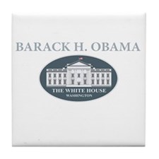 2013 inauguration day a(blk) Tile Coaster