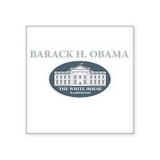 """2013 inauguration day a(blk Square Sticker 3"""" x 3"""""""