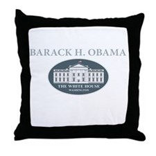 2013 inauguration day a(blk) Throw Pillow