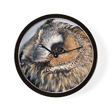 Eagle Owl Throw Pillow Wall Clock