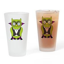 Halloween Vampire Owl Drinking Glass