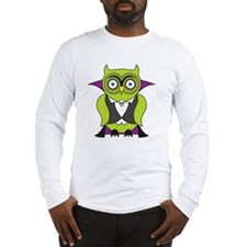 Halloween Vampire Owl Long Sleeve T-Shirt