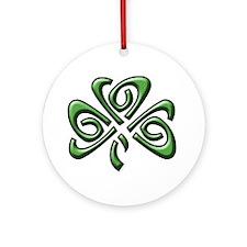 Irish: Celtic Shamrock' Ornament (Round)