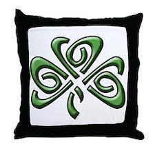 Irish: Celtic Shamrock' Throw Pillow