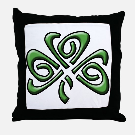 Irish: Celtic Shamrock' Throw Pillow