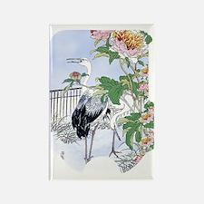 SLIDER-Cranes-Peony. Rectangle Magnet