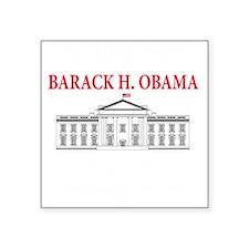 """2013 inauguration day b(blk Square Sticker 3"""" x 3"""""""