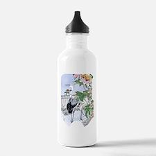 SLIDER-Cranes-Peony. Water Bottle
