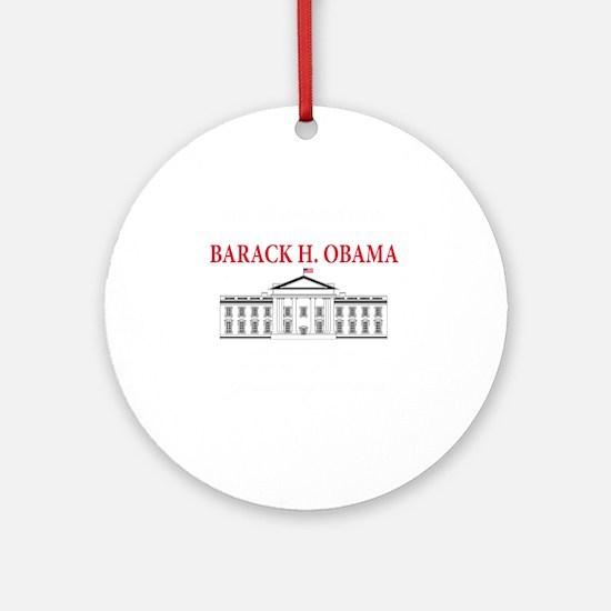 2013 inauguration day b(blk) Round Ornament