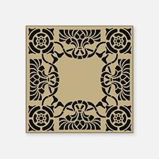 """Art Nouveau Pillow Square Sticker 3"""" x 3"""""""