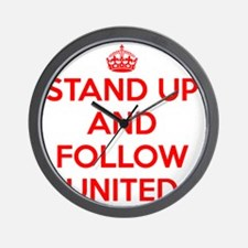 Stand UP and Follow United (Red/White) Wall Clock