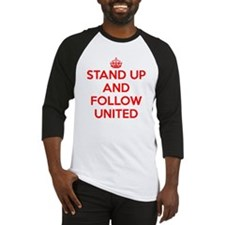 Stand UP and Follow United (Red/Wh Baseball Jersey