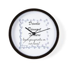 Dandie Pawprints Wall Clock