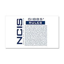 NCIS Gibbs Rules Car Magnet 20 x 12
