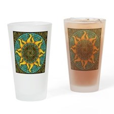 Mosaic Sun Drinking Glass