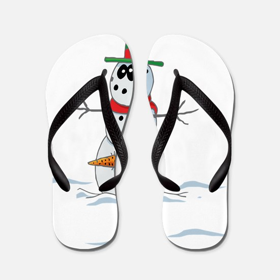 Snowman Flip Flops