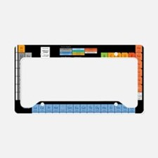 Math Table License Plate Holder