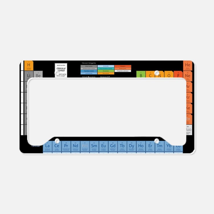 Math Table License Plate Holder