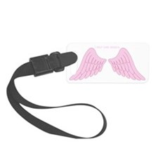 I only look angelic (pink) Luggage Tag