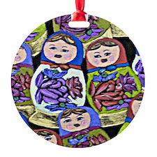 russian dolls Ornament