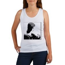 Art Deco Lady Pillow Black-White Women's Tank Top