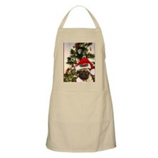 Christmas pug dog Apron