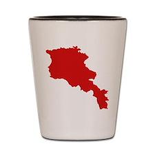 Armenia map Shot Glass