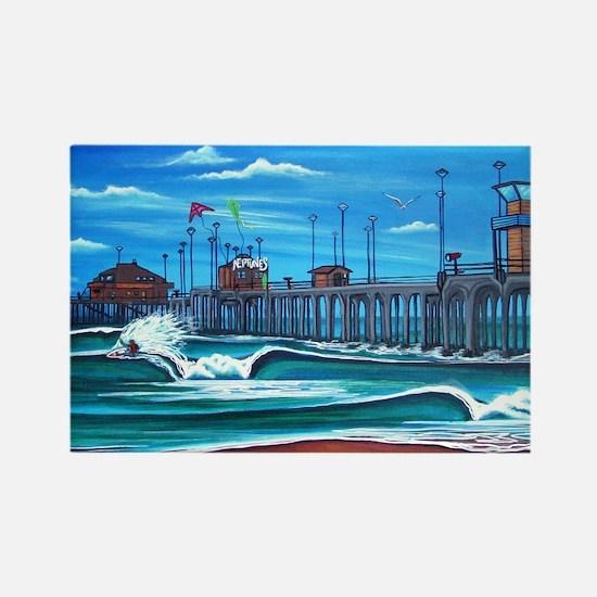 Huntington Beach Pier CIrca 1983 Rectangle Magnet