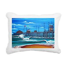 Huntington Beach Pier CI Rectangular Canvas Pillow