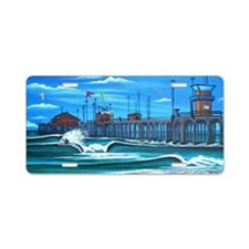 Huntington Beach Pier CIrca Aluminum License Plate