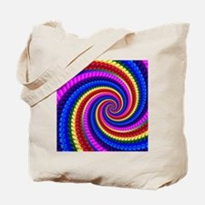 Psychedelic Rainbow Spiral Tote Bag