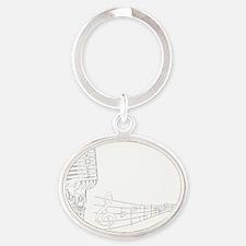 Jazz Oval Keychain