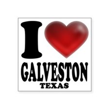 "I Heart Galveston, Texas Square Sticker 3"" x 3"""