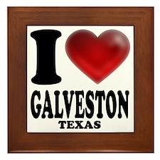 I Heart Galveston, Texas Framed Tile