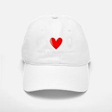 Peace, Love, Geocaching Baseball Baseball Cap